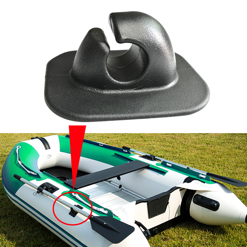 2pc Inflatable Boat Rowing Pole Paddle Clips Holder PVC Mount Patch Dinghy Kayak Canoeing Rafting Round Single Hole Rope Buckle