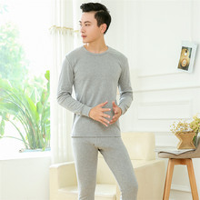 Long Johns Winter Thermal Underwear Sets Men100% Cotton Anti-microbial Stretch Men's Lover Thermo Male Spring Warm