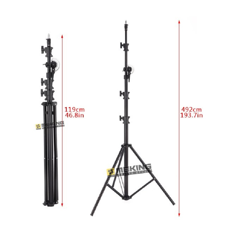 Meking Lighting Stands Heavy Duty 5M 164 M-3 Light Boom stand with sand bag Photo studio support photography Accessories