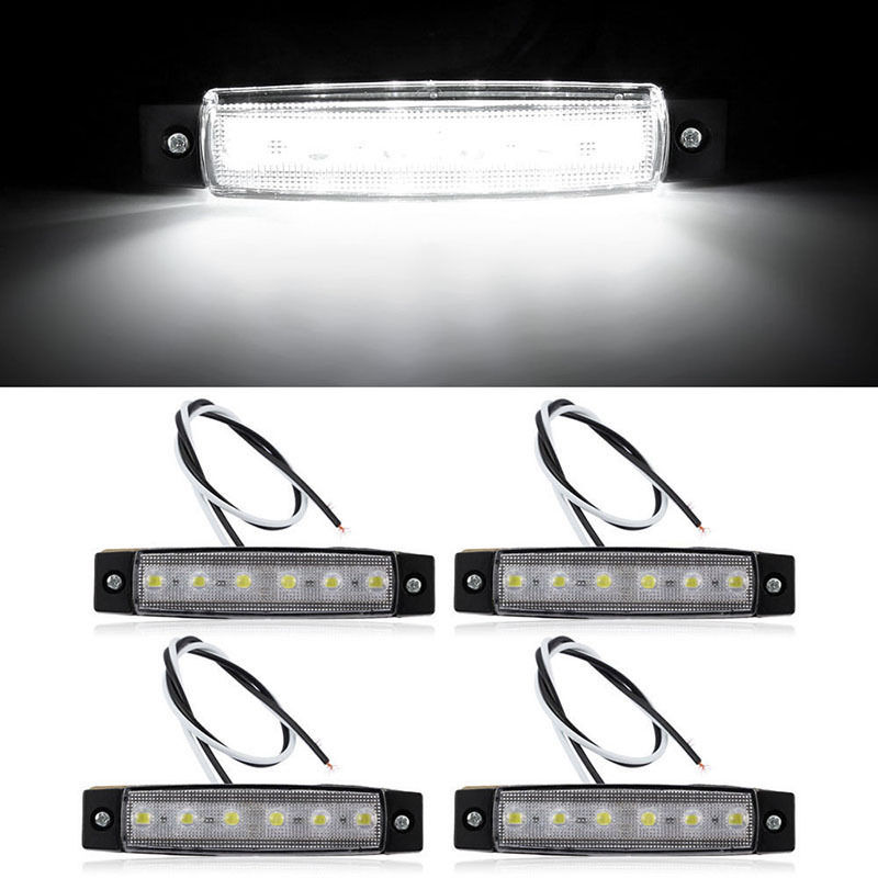 4pcs  12V 6 SMD LED Car Bus Truck Trailer Lorry Side Marker Indicator Light Side Lamp 2017 New