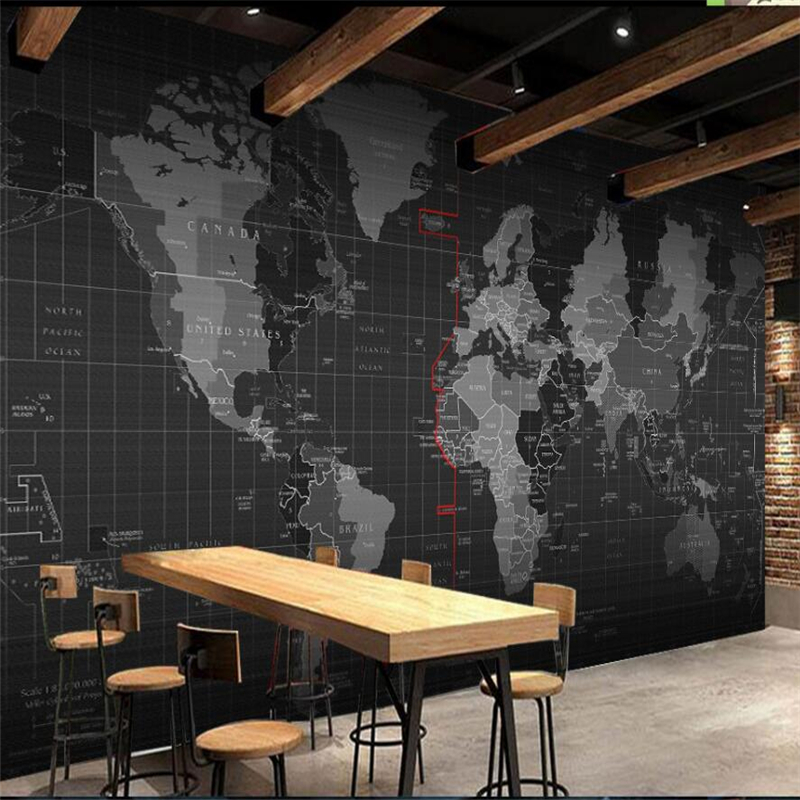 beibehang Personalized science and technology world map mural background wall custom large mural green wallpaper papel de parede vintage world map non woven mural background wallpaper rolls decorative papel de parede mapa mundi