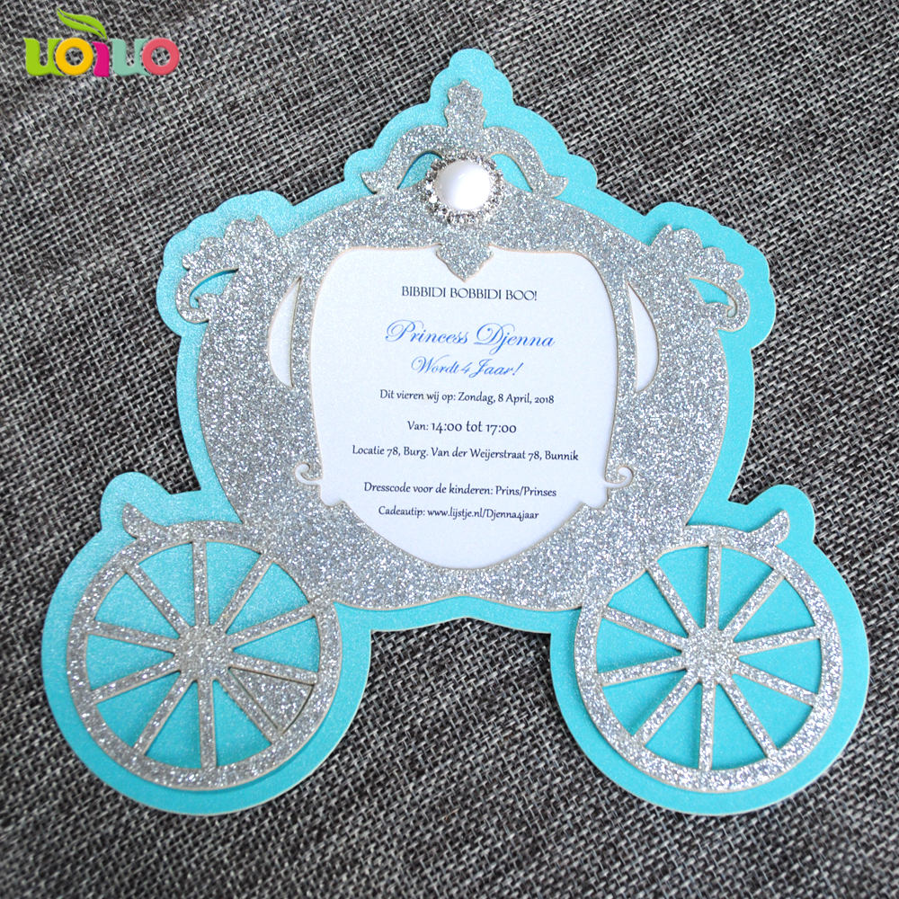 Hot Sale Laser Cut Pinkblue Baby Birthday Invitation Card Paper Goospery Pearl Jelly Case All Type Special  Blue Shower Cards