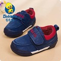 2016 casual Spring brand new slip-on soft washed denim cotton canvas toddle sneakers baby boys first walkers infant casual shoes