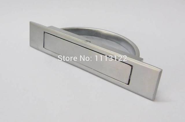 Hidden Drawer Handle Lock Matt Chrome Cabinet Rotary For Bedroom Pl005 Ls513