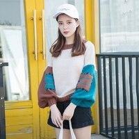 Winter woman sweater knitting pullovers female Korean style sweaters fashion 2018 women pull femme jumpers ladies KK2539