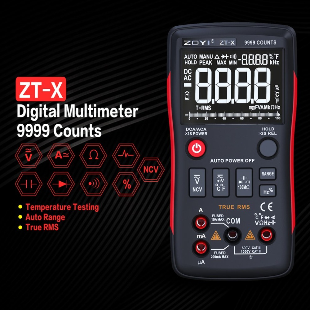 Digital-Multimeter Mastech Transistor multimetro Tester rm esr Elektrische Meter True RMS Volt Amp Ohm Tester multimetr