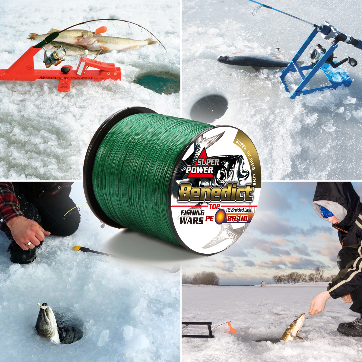 Image 2 - fishing braid line 1500m 2000m wire durable sea ocean ice fishing pe line  fishing all 8 weaves ultra high strength  8 300LBS-in Fishing Lines from Sports & Entertainment