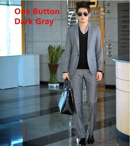 one button dark gray