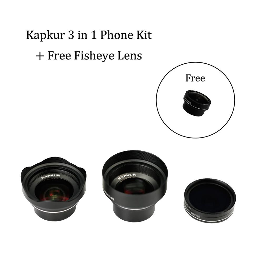 Kapkur phone lens 3 in 1 kit for iPhone series phone with Kapkur customized phone case with free sportbagKapkur phone lens 3 in 1 kit for iPhone series phone with Kapkur customized phone case with free sportbag