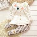 Primavera do bebê Roupas de Menina Moda Bebê Recém-nascido Meninas Roupas Set Menina Infantil Roupas de Manga Longa
