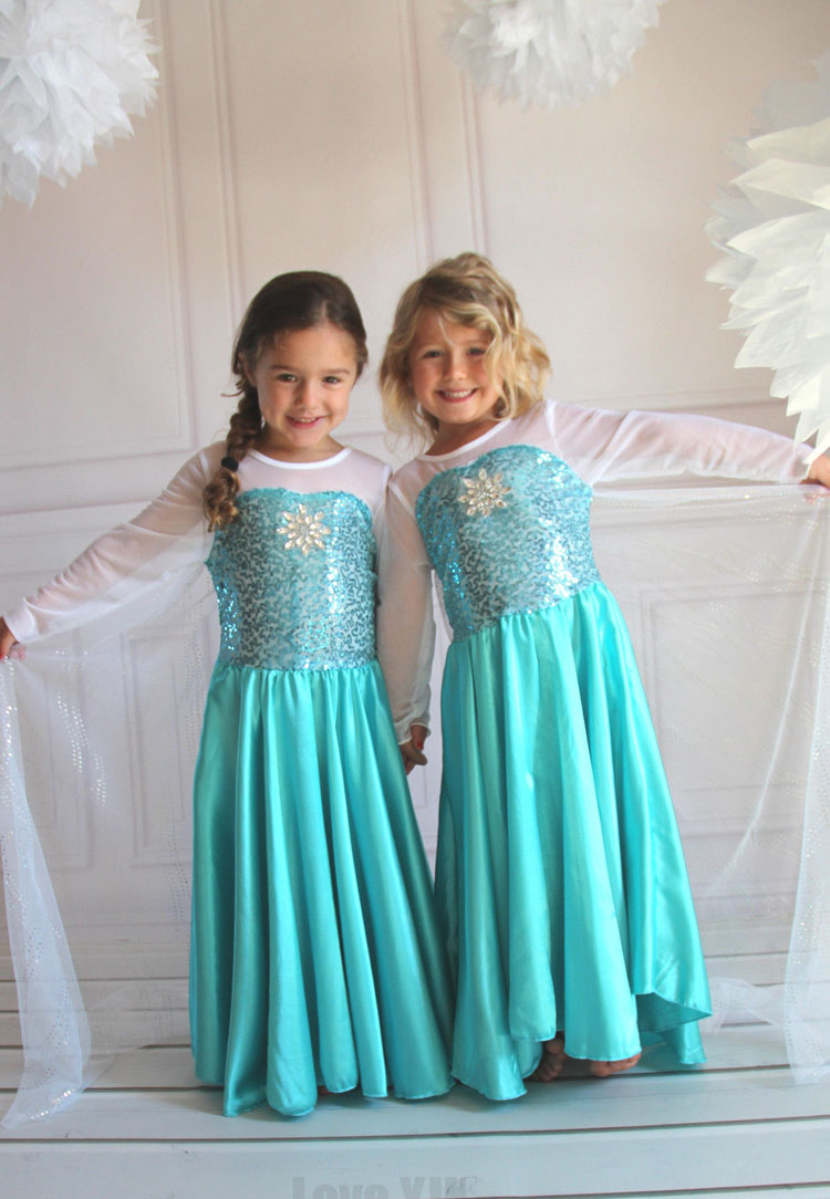 2016 Fashion Custom Anna Elsa Girls Girl Dresses Princess Dress Kids Party Vestidos Baby Children Cosplay Dress Wedding Pincess high quality fashion kids girls dresses elsa frosset dress costume princess anna party dresses for wedding vestidos kid 2 8 year