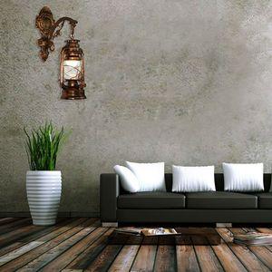 Image 3 - Vintage LED Wall Lamp Barn Lantern Retro Kerosene Wall Light European Antique Style WF4458037