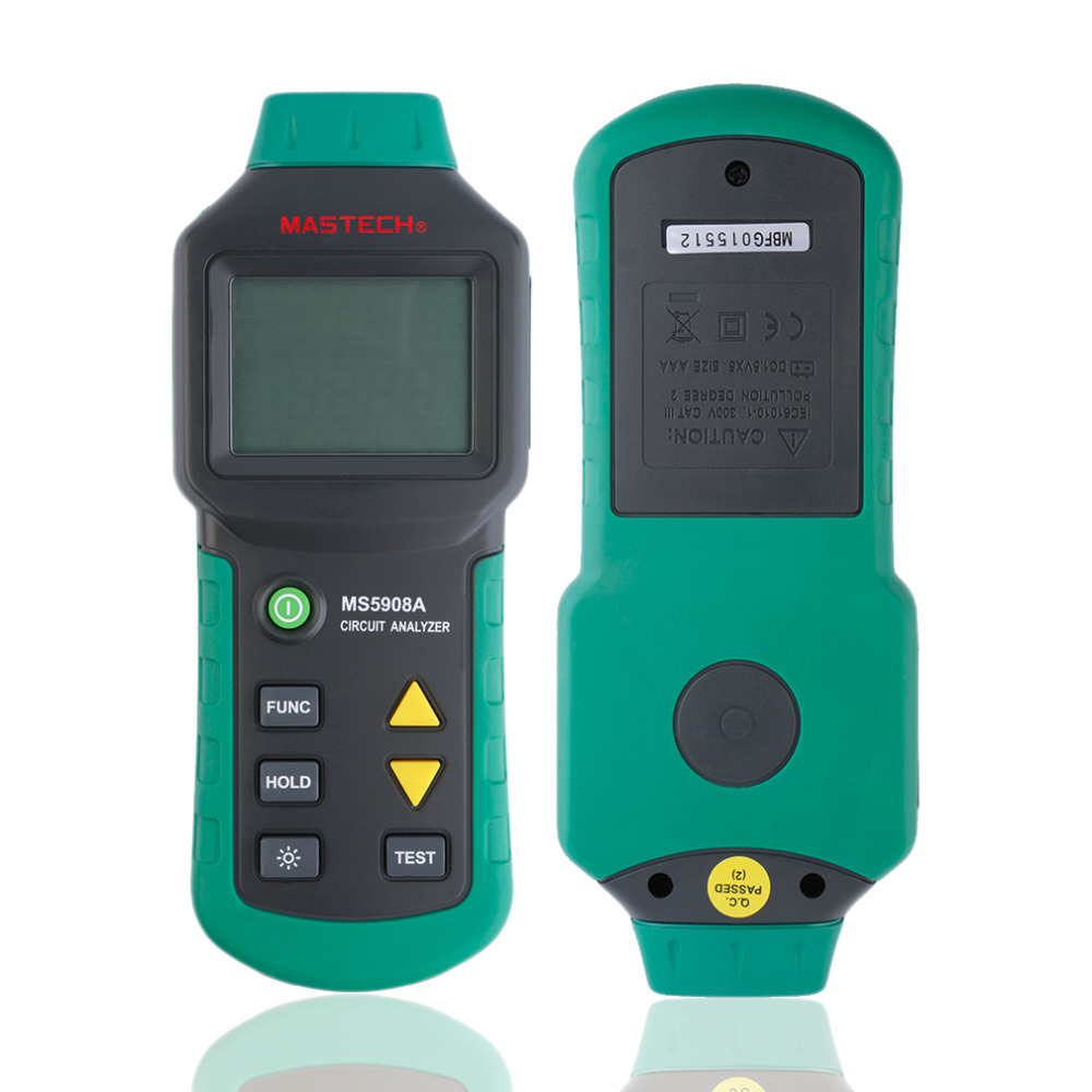 MASTECH MS5908Digital Multimeter AC Low Voltage Line Fault GFCI Tester Analyzer US 110V for Measuring Line Ground-to-Neutral цена и фото