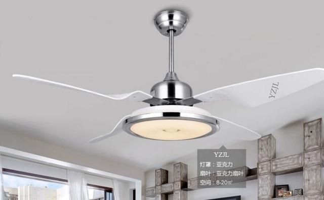 Ventilatore a soffitto luci led camera da letto luce ventilatore