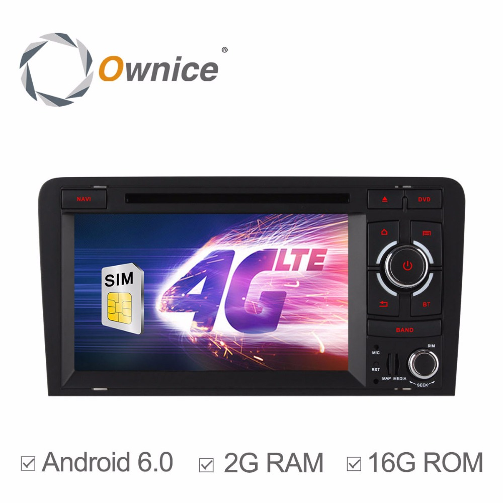 HD 1024*600 4G SIM LTE Car DVD Player for Audi A3 S3 RS3 2003-2011 Quad Core 2GB RAM Android 6.0 GPS Radio Navigation System