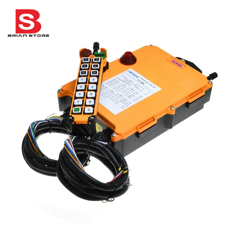 12-24VDC 2 Speed 1 Transmitter 16 Channels Hoist Crane Industrial Truck Radio Remote Control System Controller dc12v 1 speed 1 transmitter 9 channels hoist crane industrial truck radio remote control system controller receiver remote 500m