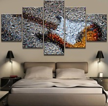 Frame 5 Piece Canvas Art Guitar Collage Singer Modern Decorative Paintings on Wall for Home Decorations Decor