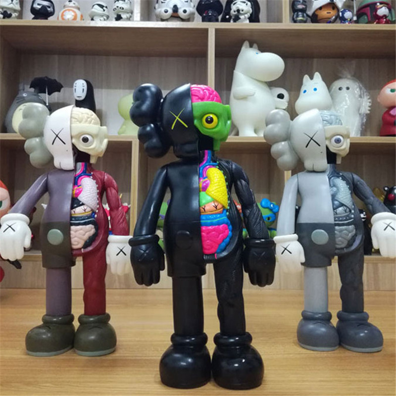8 Inch Originalfake KAWS Dissected Companion Brand Toys 3 Colors Black Art Fashion Toy Original Fake Home Decoration 20cm квадрацикл peg perego с электрическим приводом polaris sportsman nero