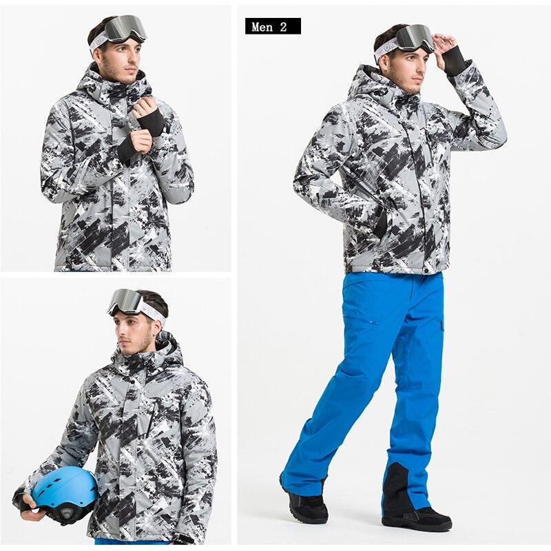 Vestes de Ski d'hiver de marque VECTOR hommes vestes de Snowboard imperméables thermiques en plein air escalade vêtements de Ski de neige HXF70002 - 5