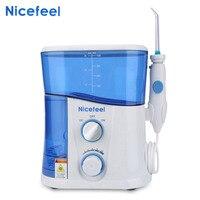Nicefeel 1000ML Water Flosser Dental Oral Irrigator Teeth Cleaner Professional Floss Oral Irrigator 7Pcs Jet Tip