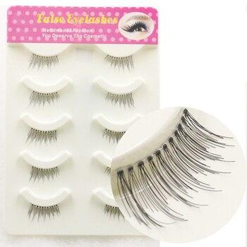 YOKPN 100% Handmade Half False Eyelashes Natural Eye Tail Elongated Fake Eyelash Tools Soft Long Eye Lashes Beauty Makeup Lashes