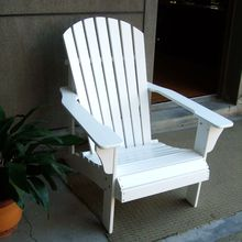 Wholesale(1pc/lot) Natural Wood Garden Chair Outdoor Frog Chair Lounge White Chair Wooden Furniture