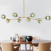 MDWELL Lindsey Adelman Chandelier Black/Gold Color Vintage For Living Dinning Room Bedroom Loft Chandelier Luminaria