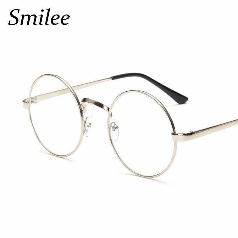 64737029bbe6a ... Transparent Round Glasses Women Optical Frame Spectacles Glasses Retro  Myopia Nerd Circle Glasses Men Metal Eyeglasses ...