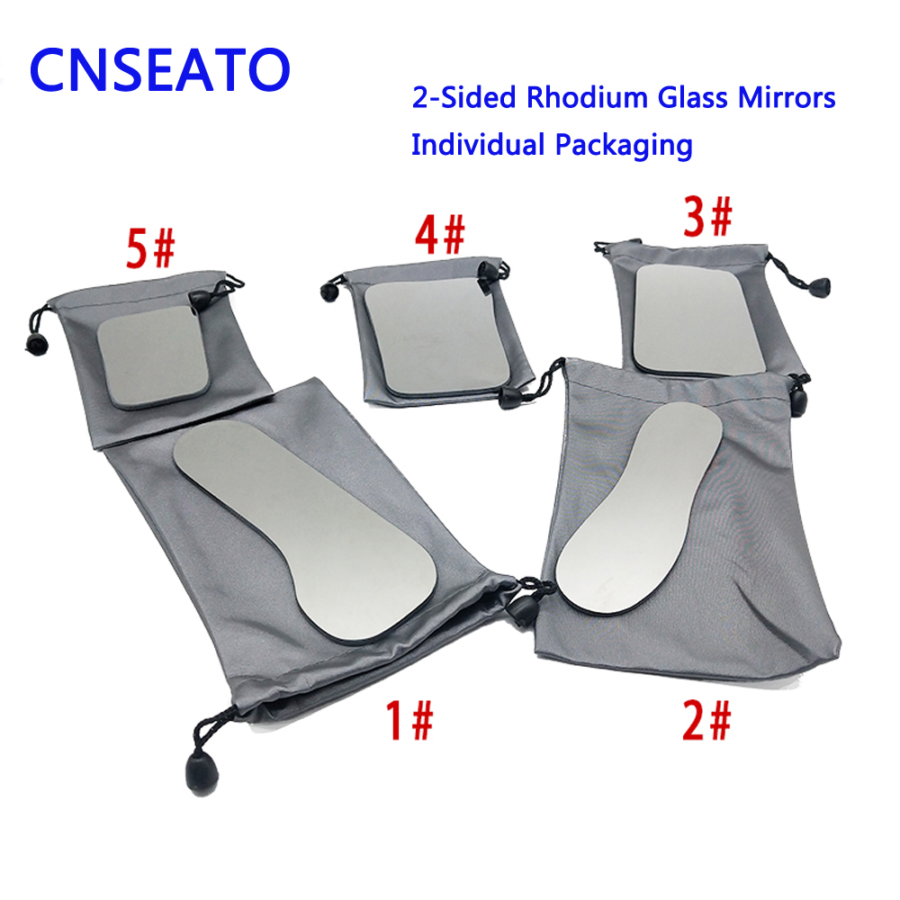 Dental Orthodontic Intraoral Photographic 2-sided Rhodium Glass Mirrors Double Side Mirror For Dentist