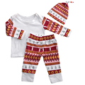 Autumn Baby Clothing Set Boys Girls Costume Set T-Shirt + Pants+Hats 3pcs Kid Suit Newborn Clothes Christmas Baby Clothes Set