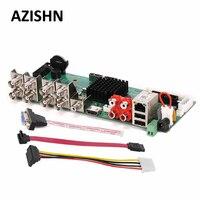 AZISHN FULL HD Security AHD DVR Board 8CH 1080P Real Time CCTV H 264 AHD CVI