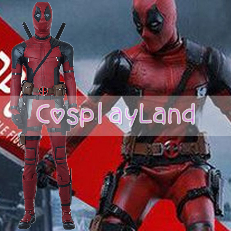 2018 New Movie Deadpool 2 Cosplay Costume Jumpsuit Shoes Halloween Suit Any Size