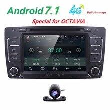 2 Din HD 1024×600 Coche Android7.1 PC 4 Core RAM 2 GB Estéreo de Radio Del Coche DVD GPS Para VW Skoda Octavia 2012 2013 5 A5 Fabia Yeti CAM