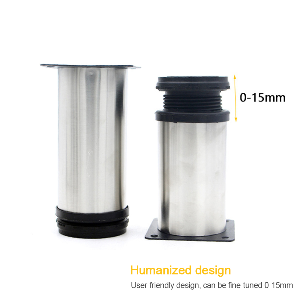 5CM-20CM Stainless Steel Furniture Leg Adjustable Cabinet Foot Round Tube Cover Thickened Reinforcement Cabinet Foot