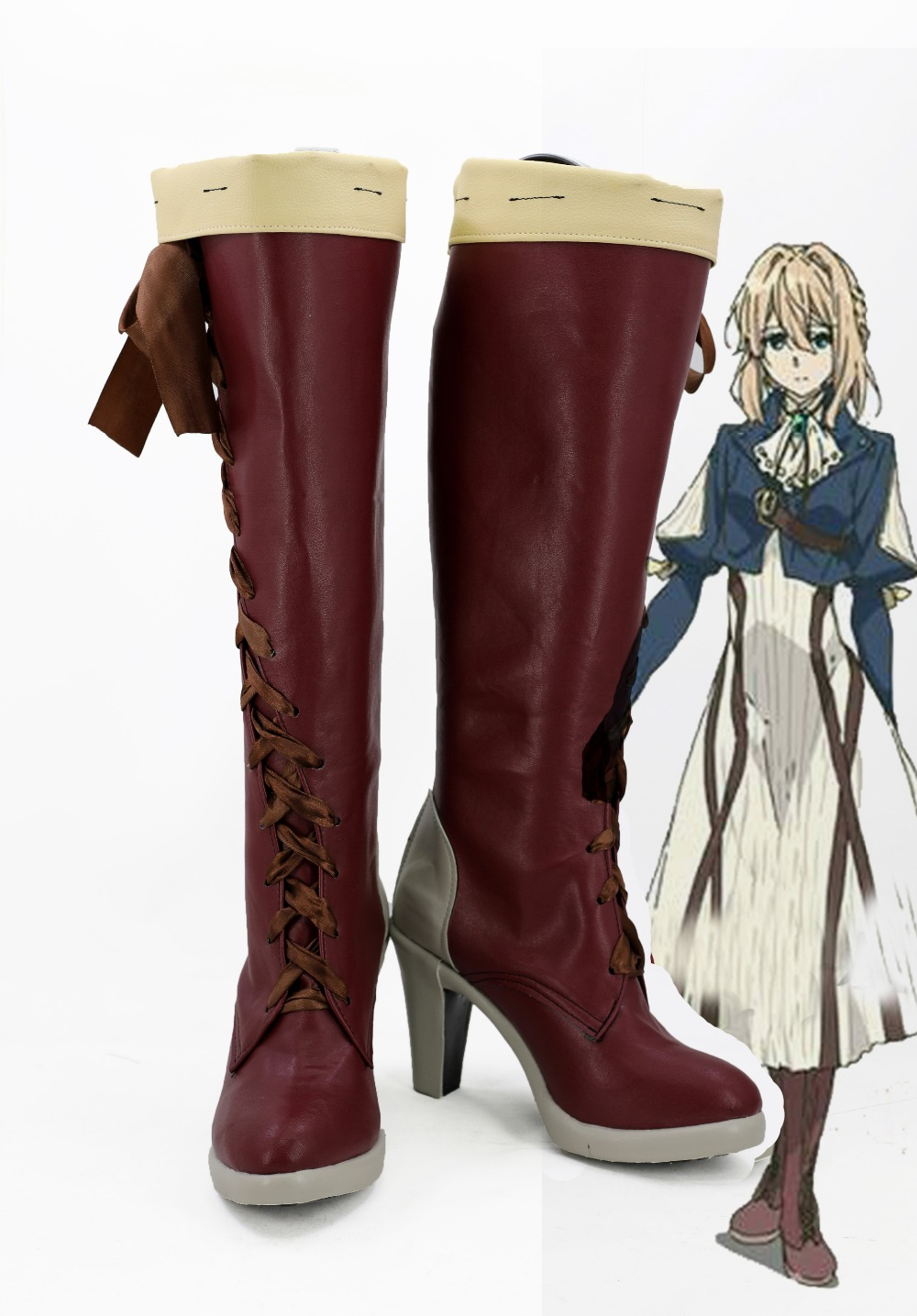 Japanese Anime Violet Evergarden Cosplay Shoes Violet Evergarden Boots For Women