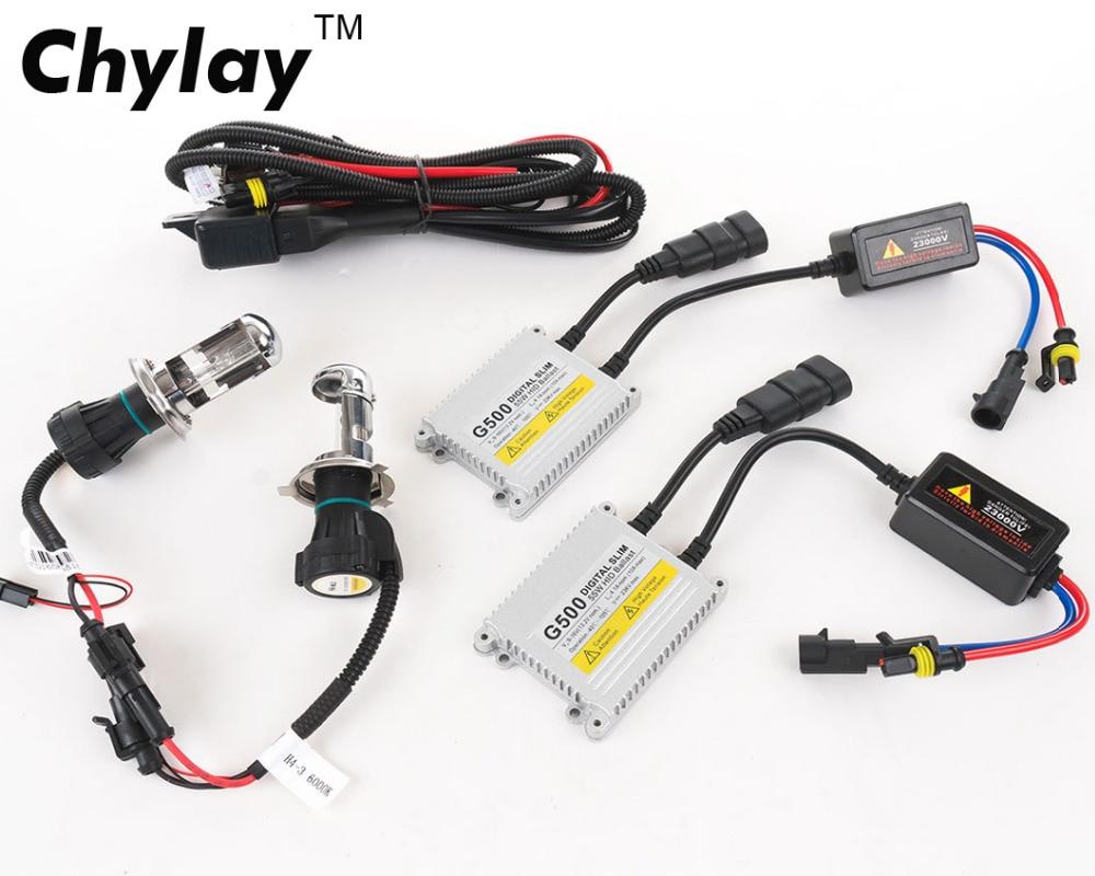 1 dəst h4 ksenon lampalar dəsti G500 gizli dönüşüm dəsti xenon - Avtomobil işıqları - Fotoqrafiya 2