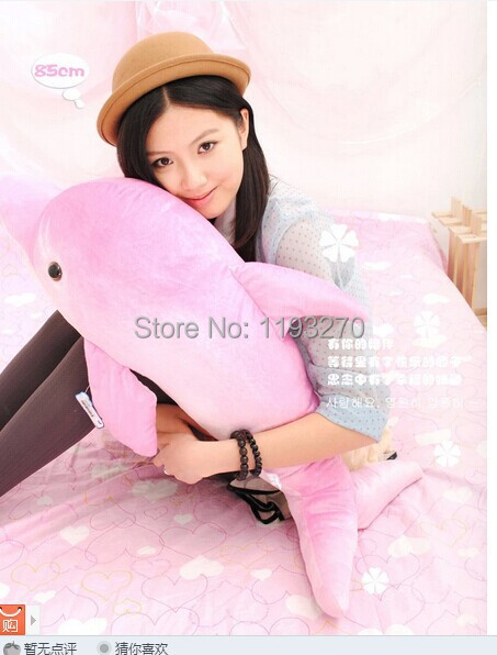 ФОТО about 85 cm dolphin plush toy pink or blue dolphin doll throw pillow gift w4624