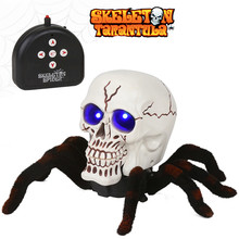 [Прямая ] реалистичный пульт дистанционного Управление Скелет Тарантул свет трюк игрушка Игрушки-животные с дистанционным управлением Хэллоуин игрушки-страшилки