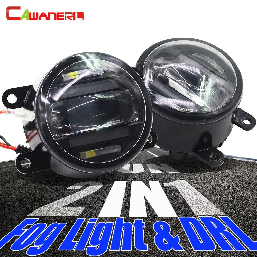 Cawanerl для Ford Focus Fiesta Fusion Mustang C Max Ranger Explorer Falcon 2 X Автомобильный Стайлинг светодиодный противотуманный светильник, дневные ходовые огни