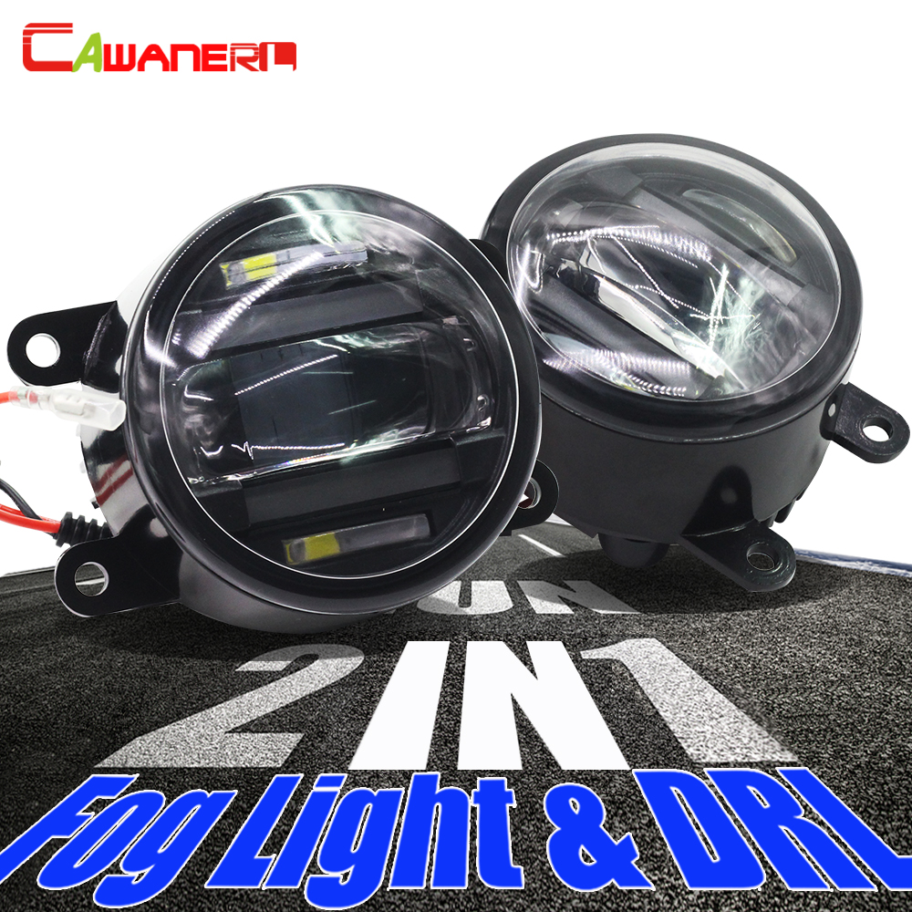 Cawanerl For Ford Focus Fiesta Fusion Mustang C-Max Ranger Explorer Falcon 2 X Car Styling LED Fog Light Daytime Running Lamp