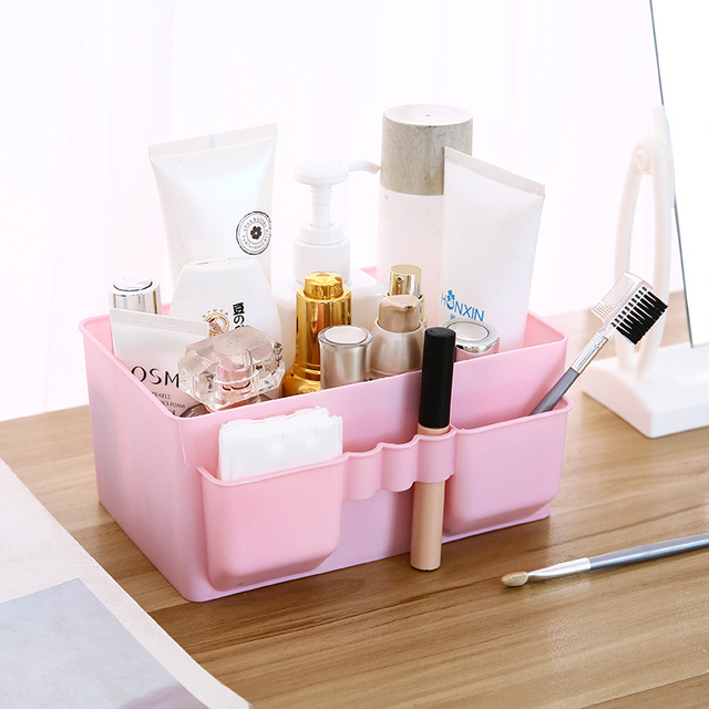 Dressing Table Cosmetic Storage Box Office Supplies Desktop Lipstick Skin Care Products Storage Rack Plastic Finishing Box
