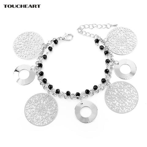 Купить женский многослойный браслет toucheart регулируемое золотое
