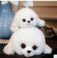 Free shipping super cute 23cm .33cm plush toy cartoon small seal stuffed doll girls boys birthday gift