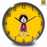 Cartoon Children Metal Silent Creative Wall Clock Art Craft Wall Watch Simple Home Decor Modern Clocks Decorative TooLs LKP178