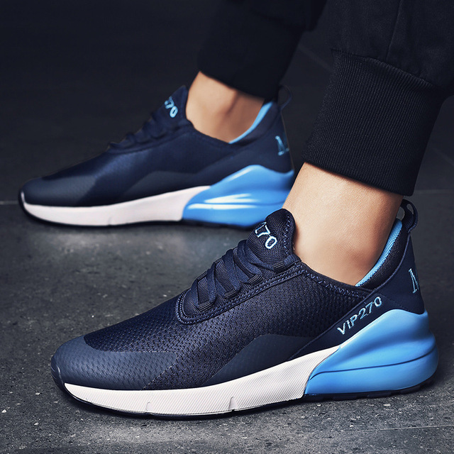 2019 Newest Men Shoes Fashion Air Cushion Mesh Breathable Large Size Men Sneakers Men's Lace-up Jogging Running Sports Shoes