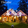 Outdoor Moving Snow Laser Projector Waterproof Landscape Snowflake LED Stage Light For Party Christmas Light Garden