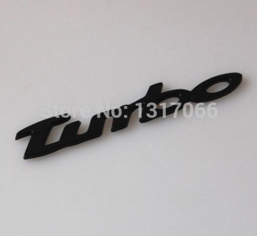 リアフロントオートカークロームターボエンブレムバッジデカールステッカー黒フィット用ポルシェカイエン(