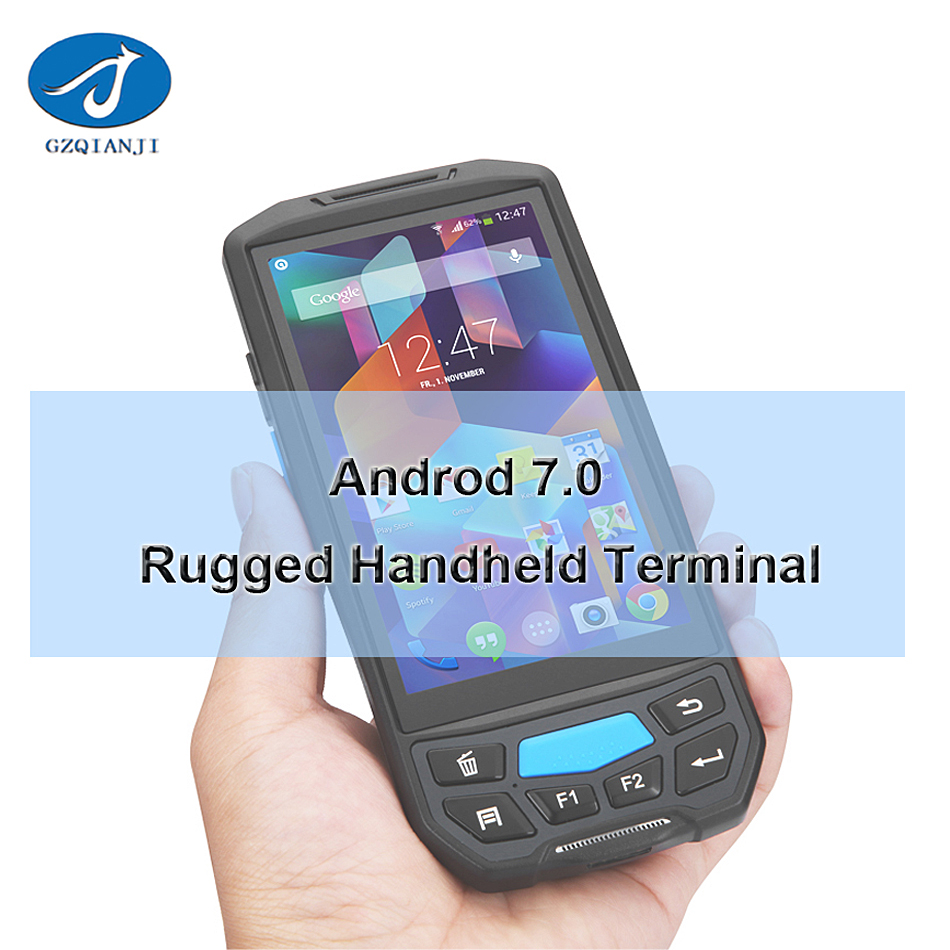Rugged PDA 2d Barcode Scanner Andriod Handheld Device wifi / blue tooth / 4G rugged pos Android 7.0 Barcode scanner mobile pda