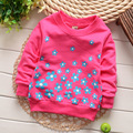 (1piece /lot) 100% cotton 2015 flower baby outerwear