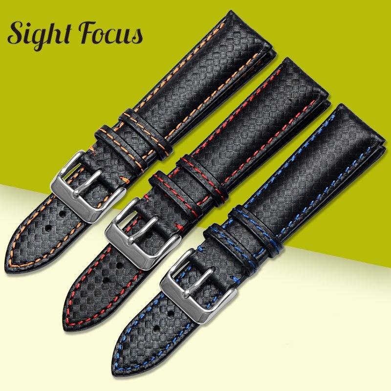 20mm 22mm Bracelet de montre pour suisse militaire Luftwaffe montre-Bracelet Bracelet armée bleu Orange rouge couture mâle ceinture de remplacement sangle